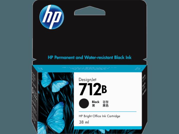 HP 712B 38-ml Black DesignJet Ink Cartridge