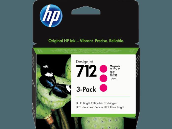 HP 712 3-pack 29-ml Magenta DesignJet Ink Cartridge