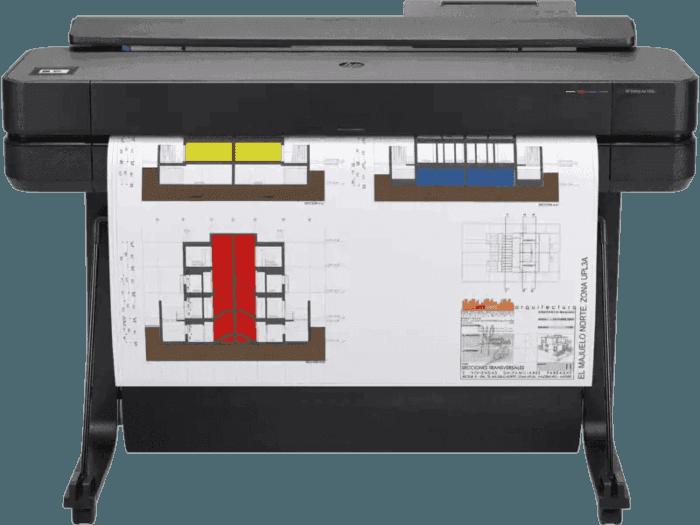 เครื่องพิมพ์พล็อตเตอร์ HP DesignJet T650- 36 นิ้ว รองรับงานพิมพ์ขนาดใหญ่สูงสุดถึง A0 พร้อมระบบสั่งพิมพ์ผ่านอุปกรณ์มือถือ  (5HB10A)