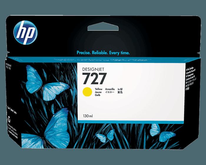 HP 727 130-ml Yellow DesignJet Ink Cartridge