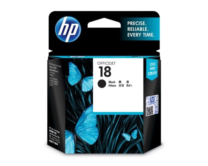 HP 18 Black Original Ink Cartridge