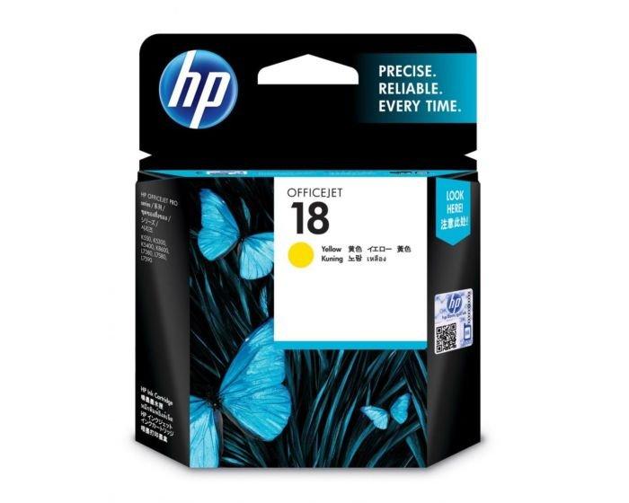 HP 18 Yellow Original Ink Cartridge
