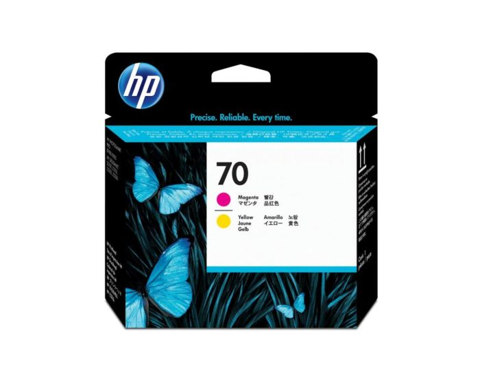 HP 70 Magenta and Yellow DesignJet Printhead