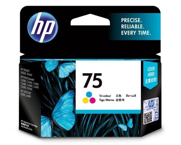 HP 75 Tri-color Original Ink Cartridge