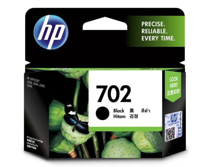 HP 702 Black Original Ink Cartridge