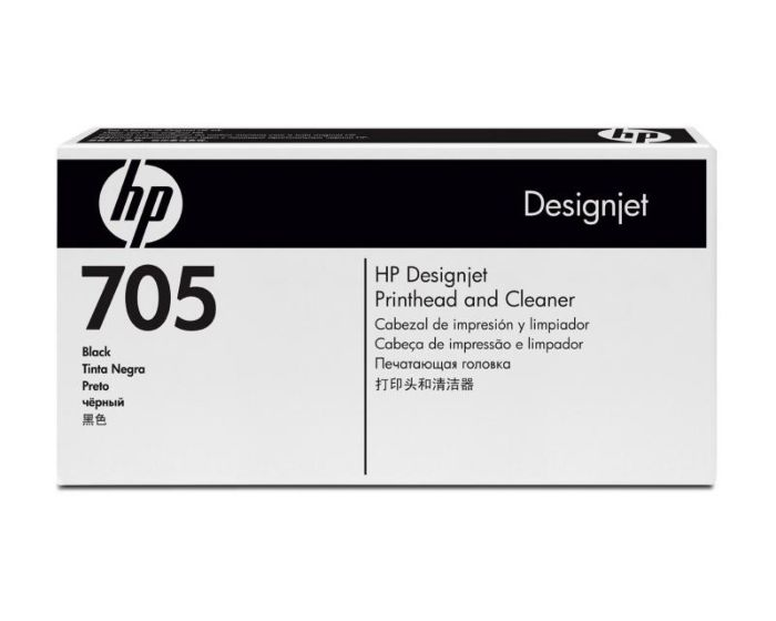 HP 705 Black DesignJet Printhead and Printhead Cleaner