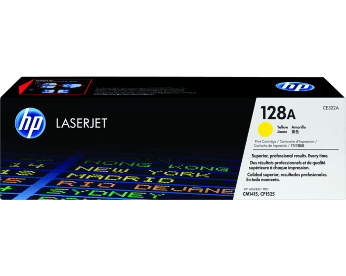 HP 128A Yellow Original LaserJet Toner Cartridge