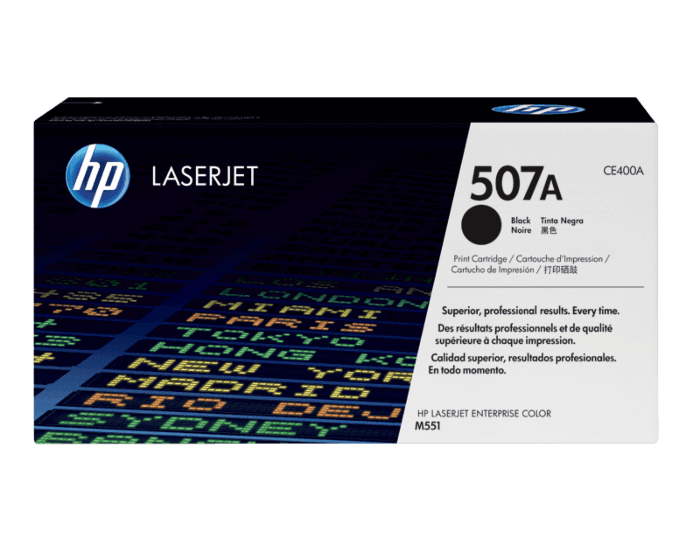 HP 507A Black Original LaserJet Toner Cartridge