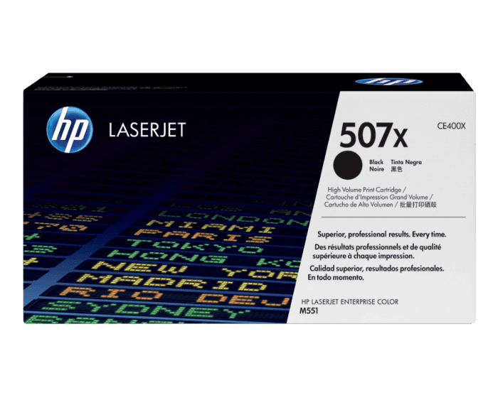 HP 507X High Yield Black Original LaserJet Toner Cartridge