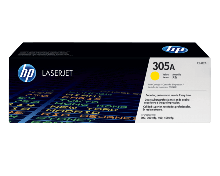 HP 305A Yellow Original LaserJet Toner Cartridge