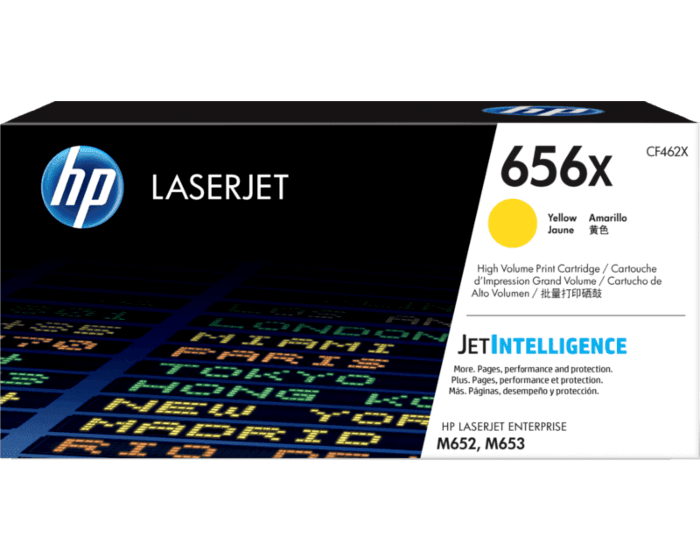 HP 656X High Yield Yellow Original LaserJet Toner Cartridge