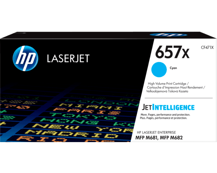 HP 657X High Yield Cyan Original LaserJet Toner Cartridge