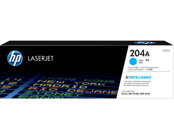 HP 204A Cyan Original LaserJet Toner Cartridge