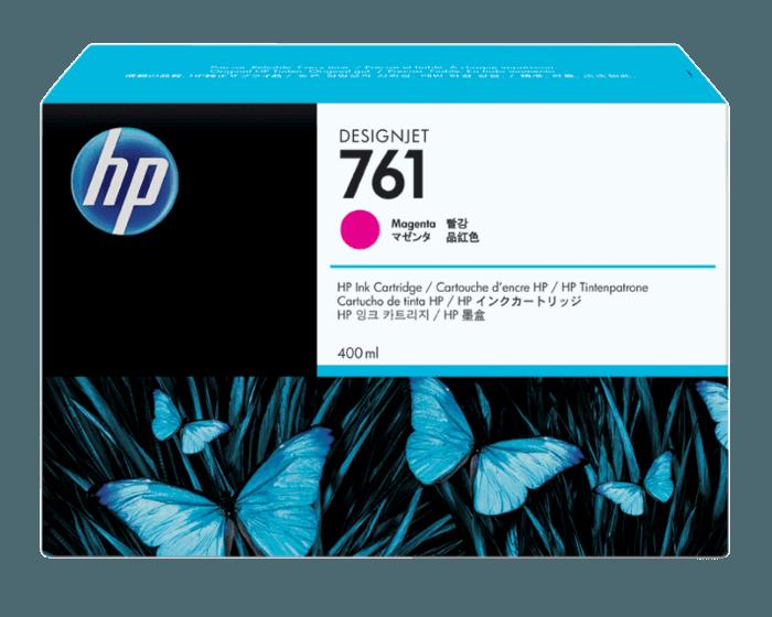 HP 761 400-ml Magenta DesignJet Ink Cartridge