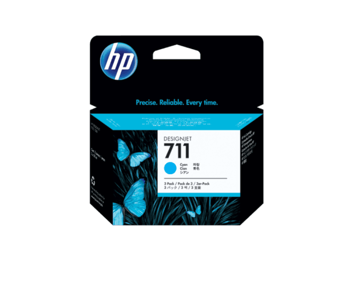HP 711 3-pack 29-ml Cyan DesignJet Ink Cartridges