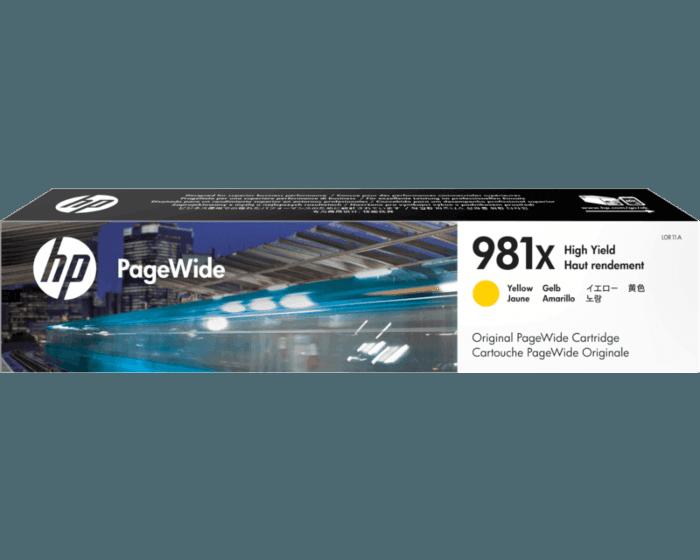 HP 981X High Yield Yellow Original PageWide Cartridge