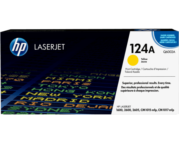 HP 124A Yellow Original LaserJet Toner Cartridge