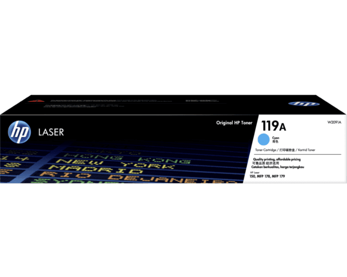HP 119A Cyan Original Laser Toner Cartridge