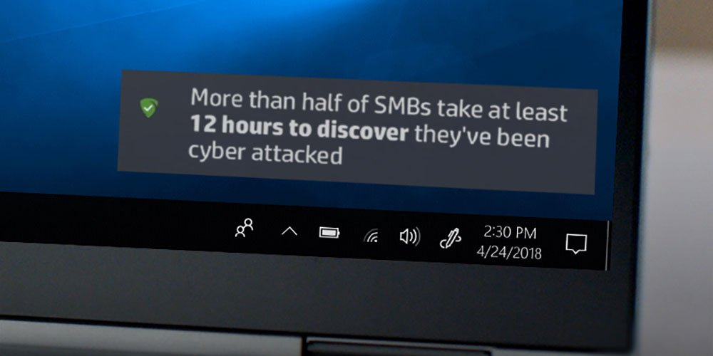 Laptop recovers files attacked by malware using HP Sure Recovery