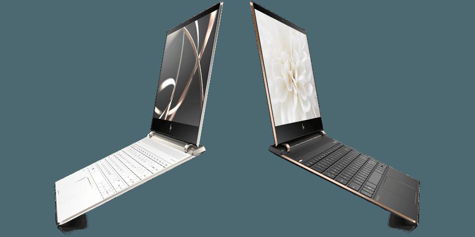 ด้านหลังของแล็ปท็อป HP Spectre