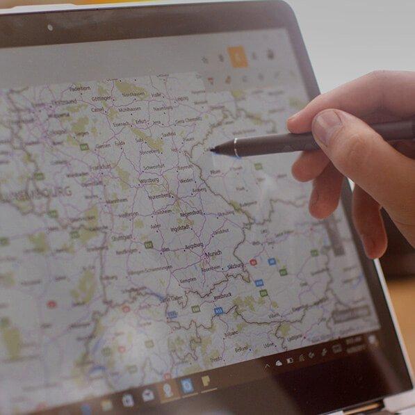 Windows Maps Inking